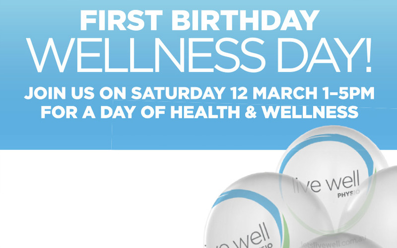 First Birthday – Wellness Day!