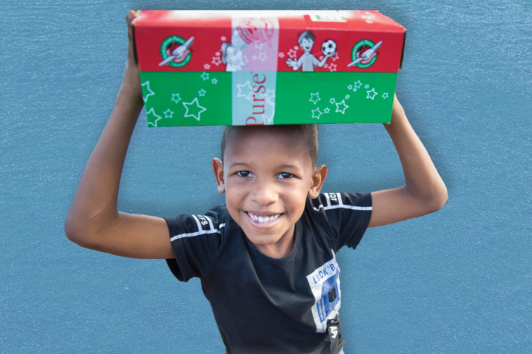 Operation Christmas Child – fill a shoebox full of gifts for a child in need